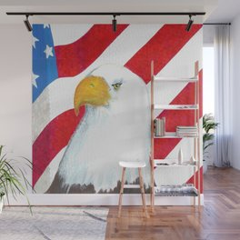 Eagle And Flag Wall Mural