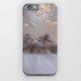 Abstract : Snow and clouds iPhone Case