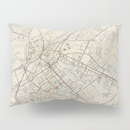 Vintage Map of Schenectady NY (1917) Pillow Sham