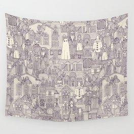 vintage halloween purple ivory Wall Tapestry