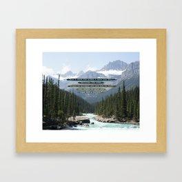Jeremiah 29:11 Canadian Rockies Framed Art Print