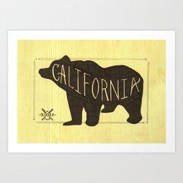 California Black Bear  Art Print