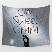 om Wall Tapestries featuring OM by Surya