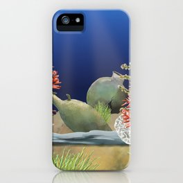 ancient jugs under water sea iPhone Case