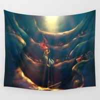 terry fan Wall Tapestries featuring Someday by Alice X. Zhang