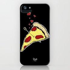 Pizza Love - Black iPhone (5, 5s) Slim Case