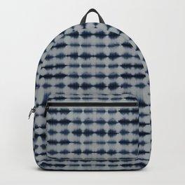 Shibori Frequency Horizontal Navy and Grey Backpack