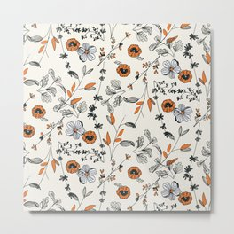 Floral pattern Flowers Metal Print