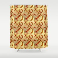 god Shower Curtains featuring God by politics