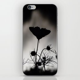 Flower in black and white iPhone Skin