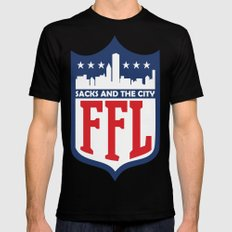 Sacks and the City MEDIUM Mens Fitted Tee Black