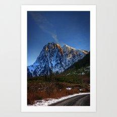 Hidden Mountain Art Print