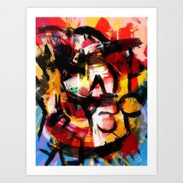 Abstraction Lyrique avec vitesse Art Print