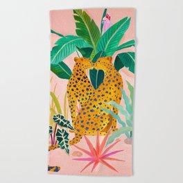 Cheetah Crush Beach Towel
