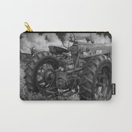 Abandoned Old Farmall Tractor in Black and White Carry-All Pouch