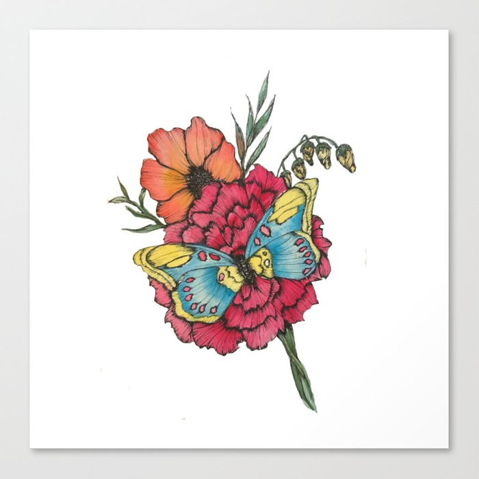 Color Flutter Canvas Print