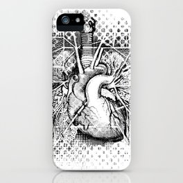 Map of the Human Heart iPhone Case