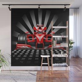 Formula 1 Red Race Car Wall Mural