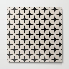 Mid Century Modern Star Pattern 123 Metal Print