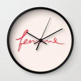Femme Wall Clock