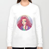 redhead Long Sleeve T-shirts featuring Cute Redhead by Elisa Ellie Serio