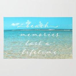 Beach memories last a life time Rug
