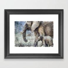 elephant 2 Framed Art Print