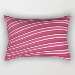 Red abstract lines Rectangular Pillow