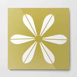 LOTUS MINIMAL - olive. Metal Print