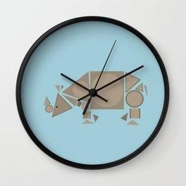 Geometric Indian Rhino Wall Clock