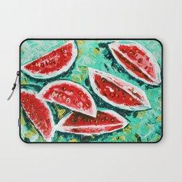 watermelon acrylic art Laptop Sleeve
