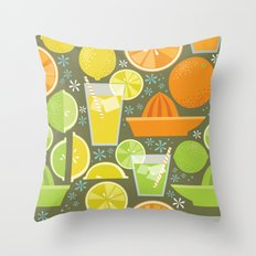 Drink Your Juice Repeat Throw Pillow