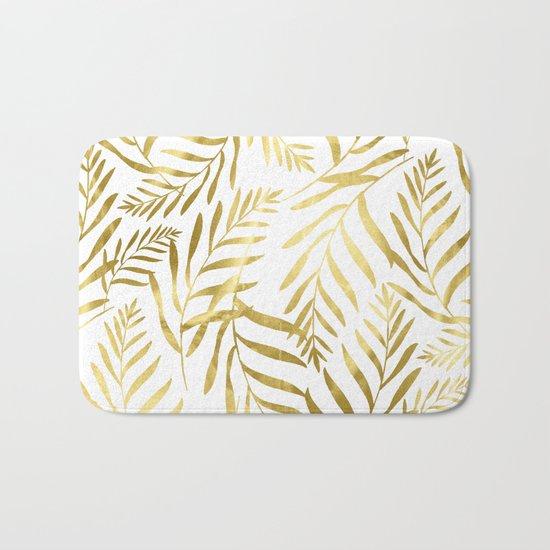 Gold Leaves Bath Mat