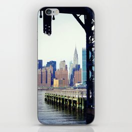 Chrysler Building in New York City, View from Queens iPhone Skin
