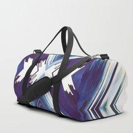 Dark Blue Aztec Inspired Design Duffle Bag