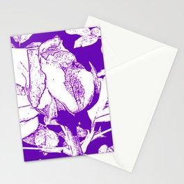 Purple rosebud Stationery Cards