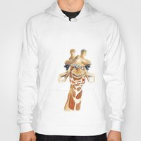 giraffe Hoodies featuring Giraffe  by Tussock Studio