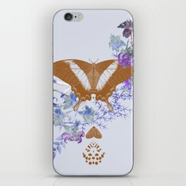 Gold Butterfly Flower Jungle iPhone Skin