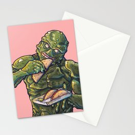 Taco Tuesday 01 - Monster of the lake Stationery Cards