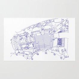 bonney drawing blue Rug