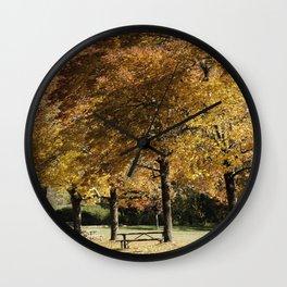 Fall in Lowell Oregon Wall Clock
