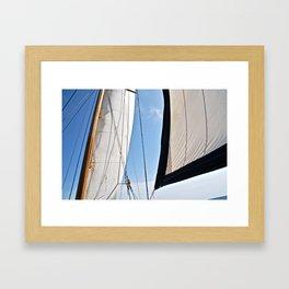 Raising the Jib II Framed Art Print
