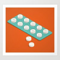 pills Art Prints featuring pills by anil yanik