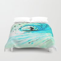 surfer Duvet Covers featuring Surfer by Bruce Stanfield