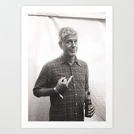 Anthony Bourdain Middle Finger Art Print