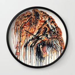 Dripping Tiger Wall Clock