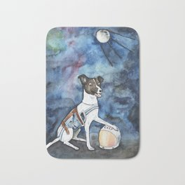 Our hero, Laika Bath Mat