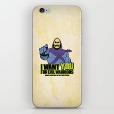 Skeletor - We want you for evil warriors iPhone & iPod Skin