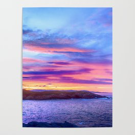 Biscay Bay sunset Poster