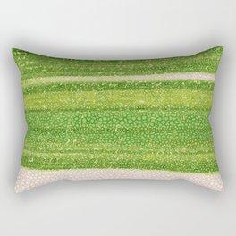 Leafs Stripes. green, white, stripes, nature, macro, leaf, leaves, decor, art, Society6. Rectangular Pillow